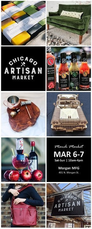 Chicago Artisan Market - March 6-7, 2021 (300 x 745 Banner)